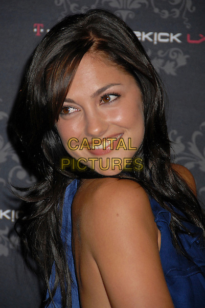 MINKA KELLY.T-Mobile Sidekick LX Launch Party at Griffith Park, Los Angeles, California, USA..October 16th, 2007.headshot portrait looking over shoulder .CAP/ADM/BP.©Byron Purvis/AdMedia/Capital Pictures.