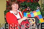 Marie Williams from Ballyduff with some colourful items she had on display at the arts and crafts fair at The Seancahi Centre in Listowel on Sunday...   Copyright Kerry's Eye 2008