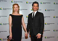 Angela Christian and Thomas Kail arrives for the formal Artist's Dinner honoring the recipients of the 41st Annual Kennedy Center Honors hosted by United States Deputy Secretary of State John J. Sullivan at the US Department of State in Washington, D.C. on Saturday, December 1, 2018.   <br /> CAP/MPI/RS<br /> &copy;RS/MPI/Capital Pictures
