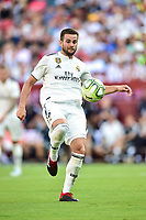 Landover, MD - August 4, 2018: Real Madrid defender Nacho Fernandez (6) with the ball during the match between Juventus and Real Madrid at FedEx Field in Landover, MD.   (Photo by Phillip Peters/Media Images International)