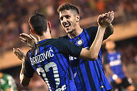 Esultanza Gol Marcelo Brozovic con Stevan Jovetic Inter Goal celebration <br /> San Benedetto del Tronto 06-08-2017 <br /> Football Friendly Match  <br /> Inter - Villarreal Foto Andrea Staccioli Insidefoto