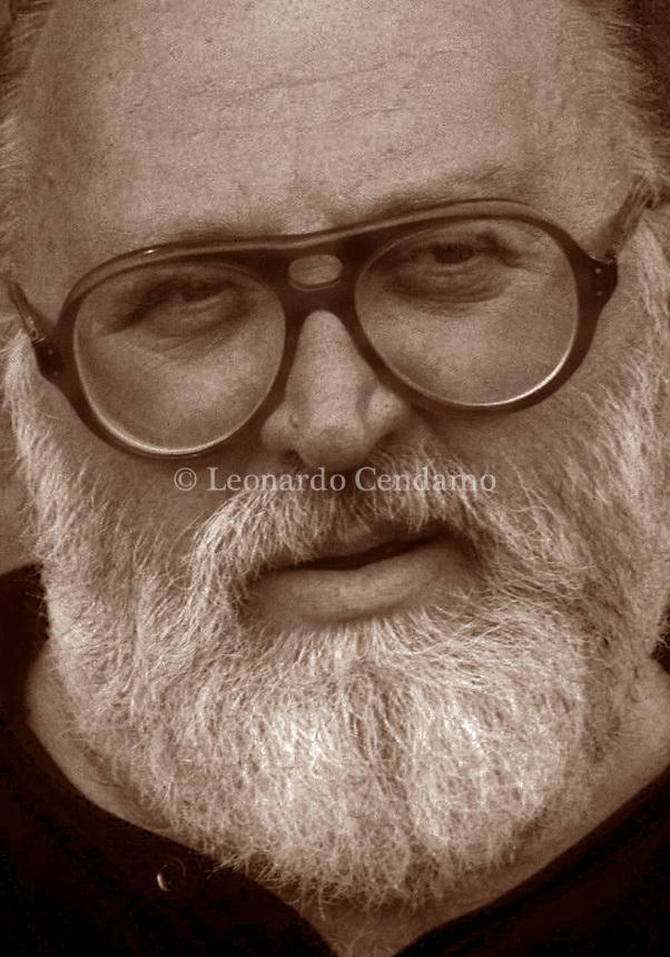 Sergio Leone, è stato un regista, sceneggiatore e produttore cinematografico italiano. È riconosciuto come regista importante de cinema italiano. i suoi films, genere spaghetti-western. Lido,12 settembre 1984. Leonardo Cendamo/Gettyimages
