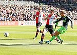 Nederland, Rotterdam, 28 oktober 2012.Eredivisie.Seizoen 2012-2013.Feyenoord-Ajax.Christian Eriksen van Ajax scoort de 0-1.