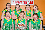 WINNERS: Team Kerry who played St Mary's in the u16 County final in Castleisland on Thursday evening front l-r: Lorraine Scanlon, Rhiannon McNulty and Maura Dillon. Back l-r: Aisling Scanlon, Mary O'Brien, Aisling Cronin and Annie Sheehy.   Copyright Kerry's Eye 2008