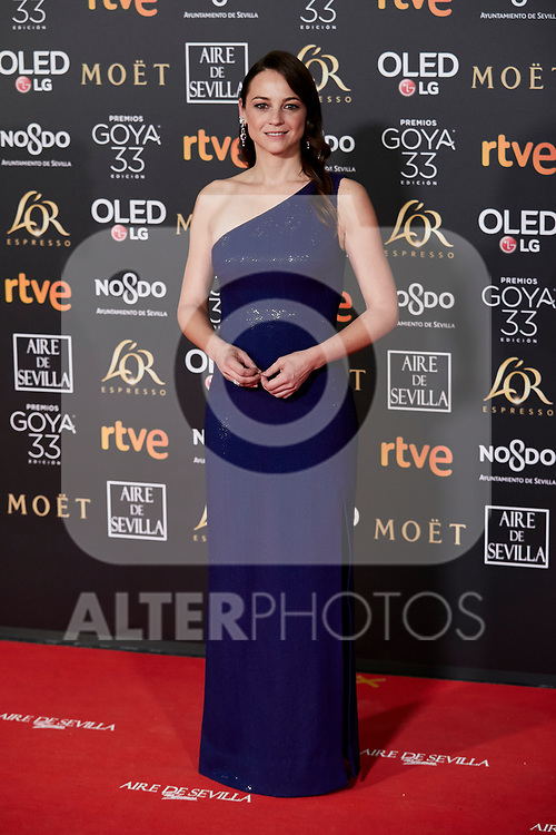 Leonor Watling attends to 33rd Goya Awards at Fibes - Conference and Exhibition  in Seville, Spain. February 02, 2019. (ALTERPHOTOS/A. Perez Meca)