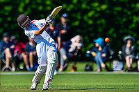 A  Tauranga batter during the National Primary School Cup Final between Southland Boys High School v Tauranga Intermediate at the Bert Sutcliffe Oval, Lincoln University, Christchurch, New Zealand. Wednesday 22 November 2017. Photo: John Davidson/www.bwmedia.co.nz