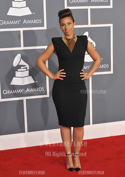 Alicia Keys at the 54th Annual Grammy Awards at the Staples Centre, Los Angeles..February 12, 2012  Los Angeles, CA.Picture: Paul Smith / Featureflash