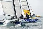 Diam 24 One Design, light, sporty, powerful, winged and designed to race with three or four people on board. The Diam 24OD is fast in light winds and confident in stronger breeze without the necessity for high level sporting prowess. The Diam 24 the new boat for the Tour de France à la Voile 2015.<br /> Macif, Skipper François Gabart <br /> Cheminés Poujoulat, Skipper Philippe Legros