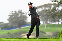 26th January 2020, Torrey Pines, La Jolla, San Diego, CA USA; Jon Rahm tees off on the 5th hole on the South Course during the final round of the Farmers Insurance Open golf tournament at Torrey Pines Municipal Golf Course on January 26, 2020.