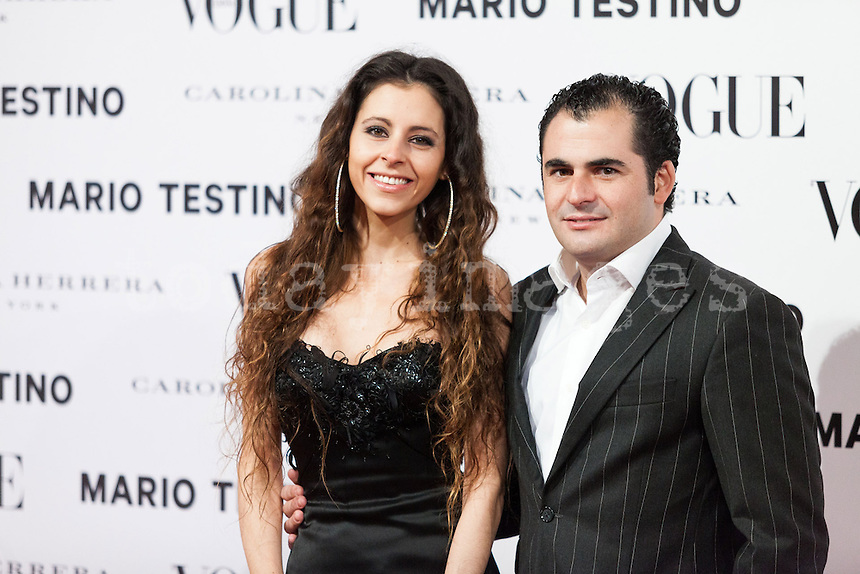Emiliano Suarez and Yolanda Font at Vogue December Issue Mario Testino Party