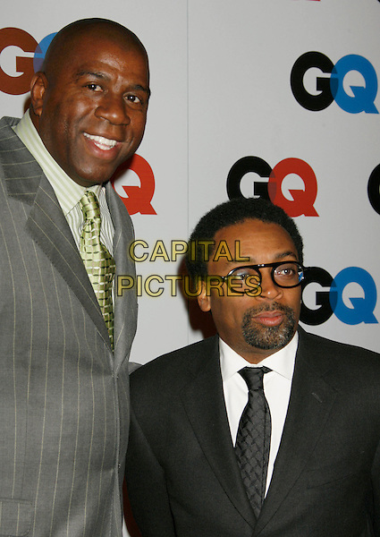 "EARVIN ""MAGIC"" JOHNSON & SPIKE LEE.2006 GQ Men of the Year Awards held at the Sunset Tower Hotel, West Hollywood, USA..November 29th, 2006.headshot portrait glasses .CAP/ADM/RE.©Russ Elliot/AdMedia/Capital Pictures"