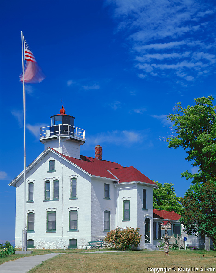 Leelanau County, MI:  Grand Traverse Lighthouse (1885) at Lighthouse Point in Leelanau State Park