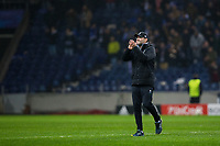Liverpool manager Jurgen Klopp celebrates at full time <br /> <br /> Photographer Craig Mercer/CameraSport<br /> <br /> UEFA Champions League Round of 16 First Leg - FC Porto v Liverpool - Wednesday 14th February 201 - Estadio do Dragao - Porto<br />  <br /> World Copyright &copy; 2018 CameraSport. All rights reserved. 43 Linden Ave. Countesthorpe. Leicester. England. LE8 5PG - Tel: +44 (0) 116 277 4147 - admin@camerasport.com - www.camerasport.com