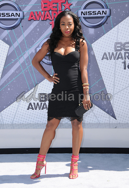 26 June 2016 - Los Angeles. Bresha Webb. Arrivals for the 2016 BET Awards held at the Microsoft Theater. Photo Credit: Birdie Thompson/AdMedia