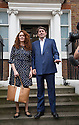 Pic shows: Rebekah Brooks and Charlie Brooks on steps of their home tonight after making statement<br /> <br /> <br /> Pic by Gavin Rodgers/Pixel 8000 Ltd