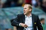 Solna 2015-07-26 Fotboll Allsvenskan AIK - IF Elfsborg :  <br /> Elfsborgs tr&auml;nare manager Magnus Haglund reagerar under matchen mellan AIK och IF Elfsborg <br /> (Foto: Kenta J&ouml;nsson) Nyckelord:  AIK Gnaget Friends Arena Allsvenskan Elfsborg IFE portr&auml;tt portrait tr&auml;nare manager coach