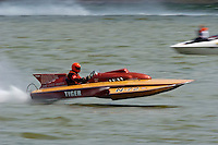 "Carl Wilson, N-72 ""Tiger"", 1974 Lauterbach 266 class hydroplane..2004 Madison Regatta, Madison, Indiana, July 4, 2004..F. Peirce Williams .photography.P.O.Box 455 Eaton, OH 45320.p: 317.358.7326  e: fpwp@mac.com."