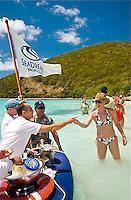 CT-SeaDream I Champagne & Caviar Splash in the Surf & Beach Barbeque, White Bay, Jost van Dyke, BVI