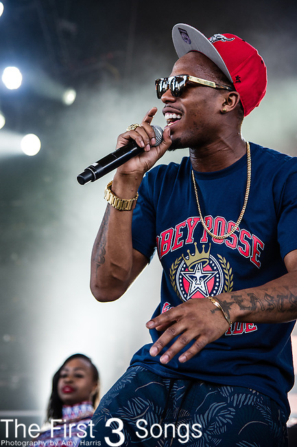 B.o.B (Bobby Ray Simmons, Jr.) performs at Klipsch Music Center in Indianapolis, Indiana.