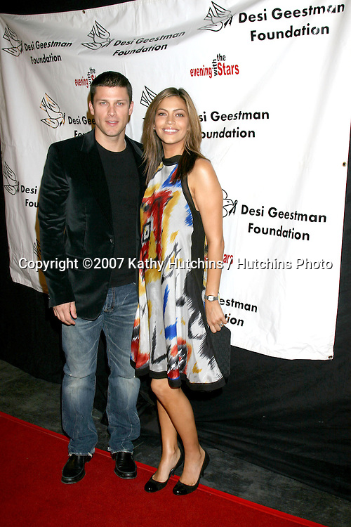 Greg Vaughn & wife.4th Annual Evening With The Stars to benefit .the Desi Geestman Foundation.  .The Ivar - Façade.Los Angeles,   CA.October 7, 2007.©2007 Kathy Hutchins / Hutchins Photo...               .