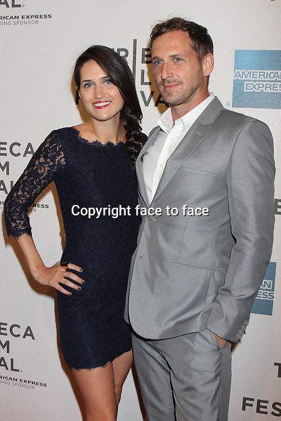 "Josh Lucas and wife Jessica Lucas attend the Tribeca Film Festival world premiere of ""Mistaken For Strangers"" at BMCC/TPAC in New York, 17.04.2013. Credit: Rolf Mueller/face to face"