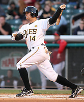 April 27, 2009:  Chris Pettit of the Salt Lake Bees, Pacific Cost League Triple A affiliate of the Los Angeles (Anaheim) Angles, during a game at the Spring Mobile Ballpark in Salt Lake City, UT.  Photo by:  Matthew Sauk/Four Seam Images