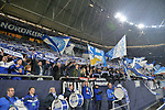 06.11.2018, Veltins-Arena, Gelsenkirchen, GER, CL, FC Schalke 04 vs Galatasaray Istanbul, DFL regulations prohibit any use of photographs as image sequences and/or quasi-video <br /> <br /> im Bild Schalker Nordkurve vor dem Spiel<br /> <br /> Foto &copy; nordphoto/Mauelshagen