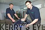 Alan & Sean Egan putting the finishing touches to this bumper before spraying.