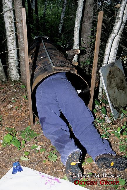 Kris Timmerman Putting Black Bear Back Into Bear Trap