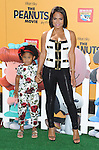 Christina Milian and daughter arriving at The Peanuts Movie premiere held at the Regency Village Theaters Los Angeles, CA. November 1, 2015