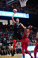 Washington, DC - July 13, 2019: Las Vegas Aces center Liz Cambage (8) connects on an easy layup during 1st half action of game between Las Vegas Aces and Washington Mystics at the Entertainment & Sports Arena in Washington, DC. (Photo by Phil Peters/Media Images International)