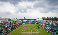 Mona Barthel returns serve to Magdalena Rybarikova<br /> <br /> Photographer Alex Dodd/CameraSport<br /> <br /> Tennis - WTA World Tour -Nature Valley Open Tennis Tournament - Day 3 - Wednesday 13th June 2018 - Nottingham Tennis Centre - Nottingham<br /> <br /> World Copyright &copy; 2018 CameraSport. All rights reserved. 43 Linden Ave. Countesthorpe. Leicester. England. LE8 5PG - Tel: +44 (0) 116 277 4147 - admin@camerasport.com - www.camerasport.com