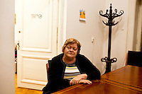 ROMANIA / Bucharest / 16 October 2009 / Zoe Petre, a professor of ancient history at The University of Bucharest, in her office. © Davin Ellicson / Anzenberger