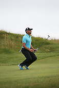 20.07.2014. Hoylake, England. Sergio Garcia of Spain reacts to his approach shot on the 13th hole during the final round of the 143rd British Open Championship at Royal Liverpool Golf Club in Hoylake, England.