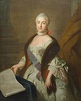 Portrait of Grand Duchess Catherine Alexeyevna (1729-1796) by Ivan Argunov - Catherine The Great-