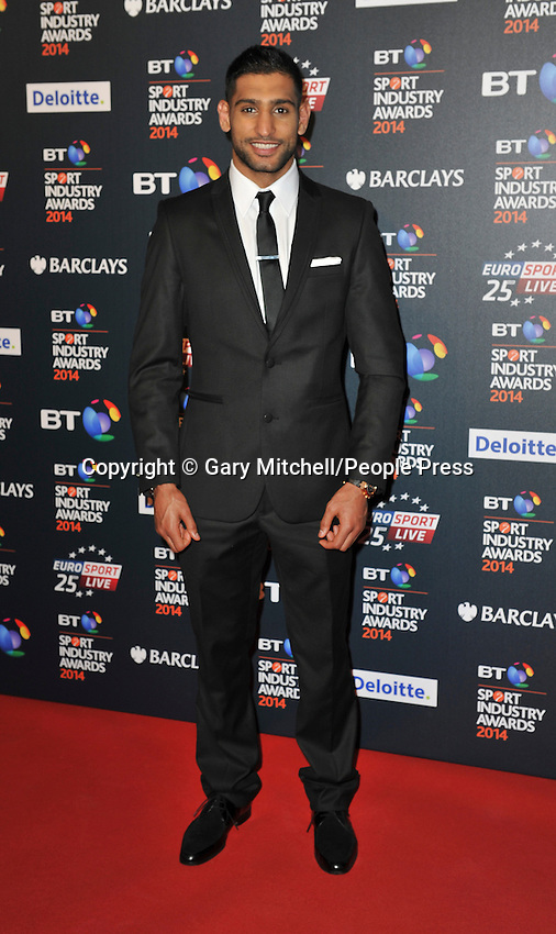 Amir Khan attends the BT Sport Industry Awards at Battersea Evolution on May 8, 2014 in London, England
