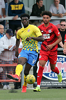 Lee Angol of Leyton Orient and Josue Antonio of Harlow Town during Harlow Town vs Leyton Orient, Friendly Match Football at The Harlow Arena on 6th July 2019