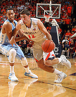 Virginia guard Joe Harris (12) during an NCAA basketball game Monday Jan. 20, 2014 in Charlottesville, VA. Virginia defeated North Carolina 76-61.