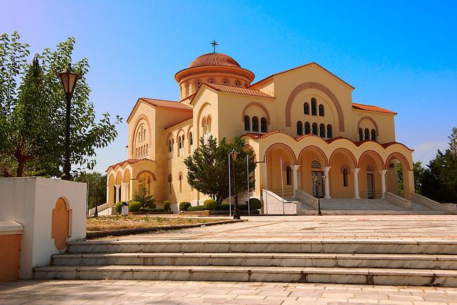 New Orthodox church of Omala. Kefalonia, Ionian Islands, Greece.