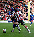 Ryan Flynn of Sheffield United and Michael Bostwick of Stevenage tussle. - Sheffield United v Stevenage - npower League 1 - Bramall Lane, Sheffield  - 28th April, 2012. © Kevin Coleman 2012