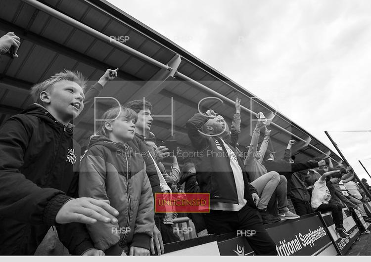 29/04/2017 National League North AFC Fylde v Worcester City<br /> <br /> AFC Fylde fans await the final whistle