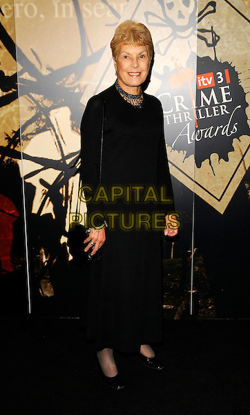 BARONESS RUTH RENDELL .At the ITV3 Crime Thriller Awards, Grosvenor House Hotel, London, England, UK, October 3rd 2008..full length black dress long sleeved bag .CAP/CAN.©Can Nguyen/Capital Pictures