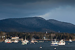 The fishing village of Bass Harbor on Mount Desert Island, Downeast, ME, USA