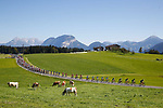 Action from the Men U23 Road Race, with Bjorg Lambrecht (BEL) 2nd place and Jaakko Hanninen (FIN) 3rd, of the 2018 UCI Road World Championships running 179.5km from Wattens to Innsbruck, Innsbruck-Tirol, Austria 2018. 28th September 2018.<br /> Picture: Innsbruck-Tirol 2018 | Cyclefile<br /> <br /> <br /> All photos usage must carry mandatory copyright credit (© Cyclefile | Innsbruck-Tirol 2018)