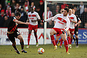 Dani Lopez of Stevenage takes on Michael Doyle of Sheffield United. Stevenage v Sheffield United - npower League 1 -  Lamex Stadium, Stevenage - 16th March, 2013. © Kevin Coleman 2013.. . . .