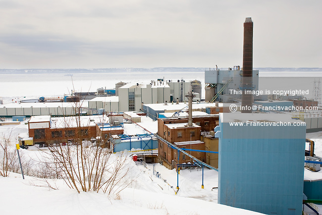Donnacona, March 7, 2008 - The Donnacona AbitibiBowater pulp and paper mill is pictured. The mill has closed it's door last February.