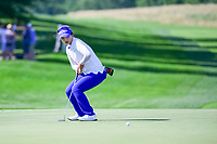 Hye-Jin Choi (a)(KOR) barely misses her birdie putt on 9 during Sunday's final round of the 72nd U.S. Women's Open Championship, at Trump National Golf Club, Bedminster, New Jersey. 7/16/2017.<br /> Picture: Golffile | Ken Murray<br /> <br /> <br /> All photo usage must carry mandatory copyright credit (&copy; Golffile | Ken Murray)