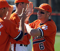 Clemson University shortstop Stan Widman (6) from the opening game of the 2008 season between Mercer and Clemson University at Doug Kingsmore Stadium, Clemson, S.C. Photo by: Tom Priddy/Four Seam Images