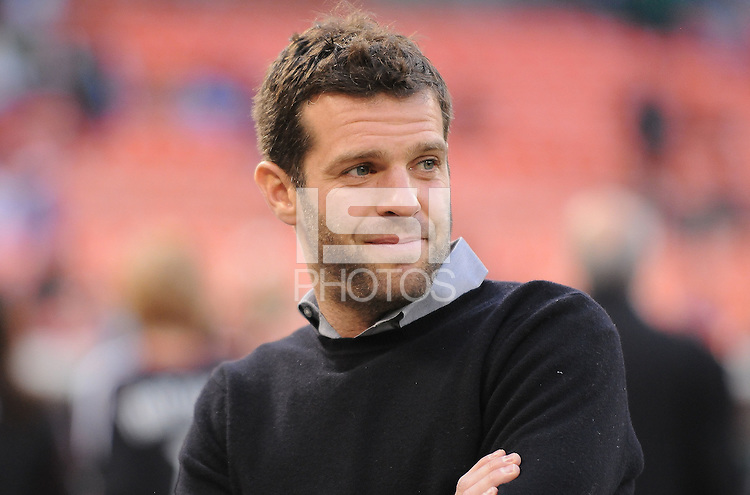 DC United Head Coach Ben Olsen  .  DC United defeated The Columbus Crew  3-1 at the home season opener, at RFK Stadium, Saturday March 19, 2011.