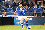 07 December 2012: Creighton's Andrew Ribeiro. The Creighton University Bluejays played the Indiana University Hoosiers at Regions Park Stadium in Hoover, Alabama in a 2012 NCAA Division I Men's Soccer College Cup semifinal game. Indiana won the game 1-0.